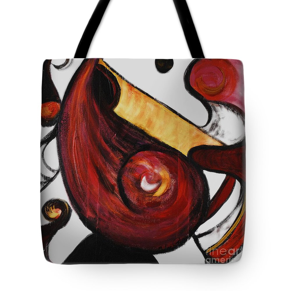 Survivor Tote Bag featuring the painting Survivor by Nadine Rippelmeyer