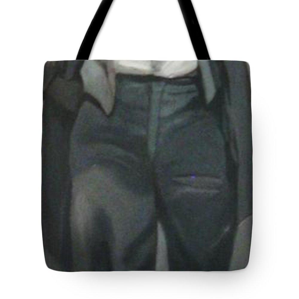 Survivor Tote Bag featuring the painting Survivor Spirit Richard Jackson by Joyce Owens