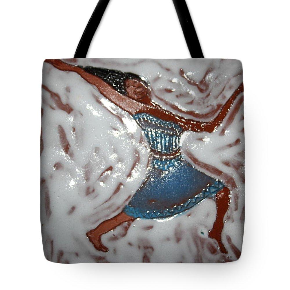 Jesus Tote Bag featuring the ceramic art Susan - Tile by Gloria Ssali
