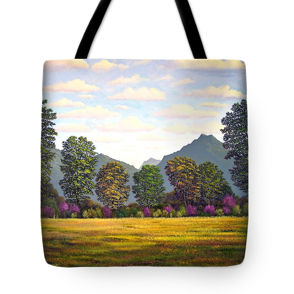 Mountains Tote Bag featuring the painting Sutter Buttes In Springtime by Frank Wilson