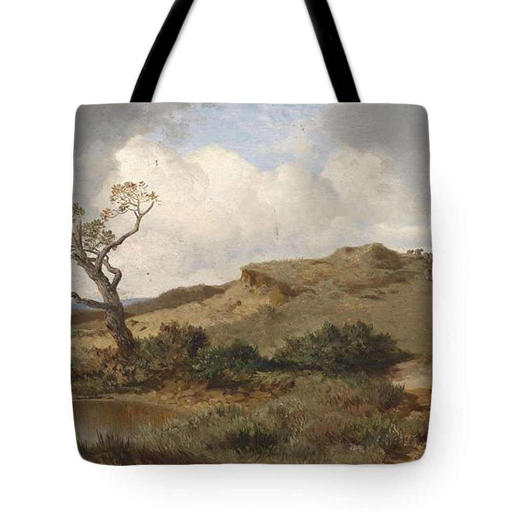 Landscape Tote Bag featuring the painting Swabian Landscape by Celestial Images