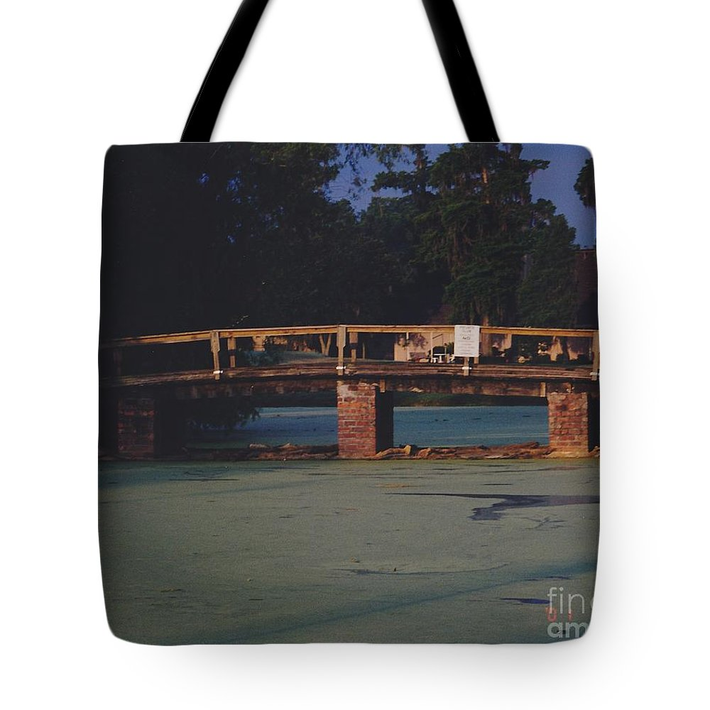 Bridge Tote Bag featuring the photograph Swamp Bridge by Michelle Powell