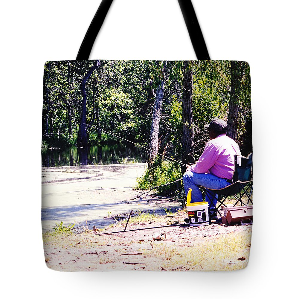 Swamps Tote Bag featuring the photograph Swamp Fishing by Michelle Powell