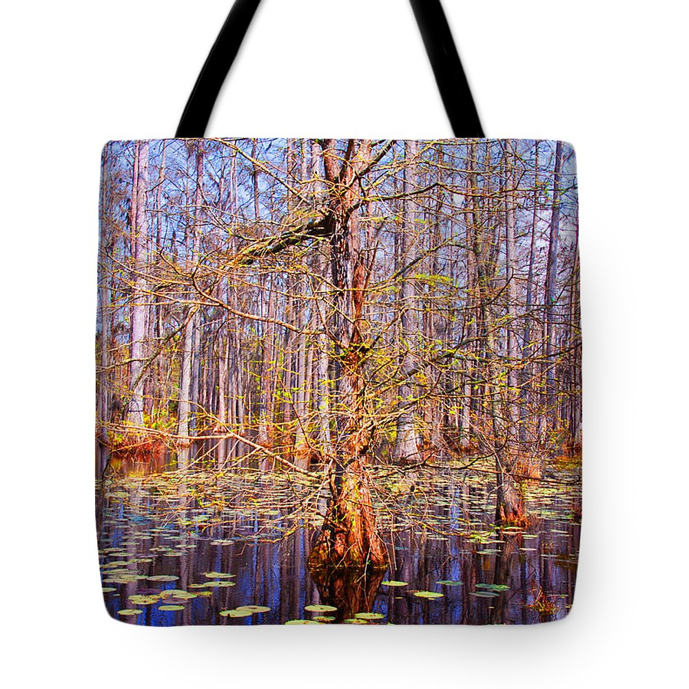 Swamp Tote Bag featuring the photograph Swamp Tree by Susanne Van Hulst