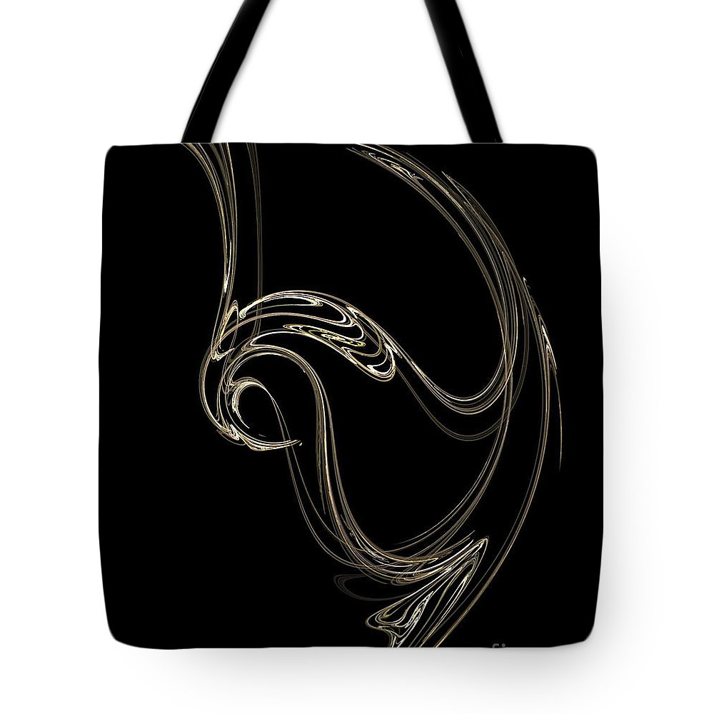 Fractals Tote Bag featuring the digital art Swan Dance by Richard Rizzo