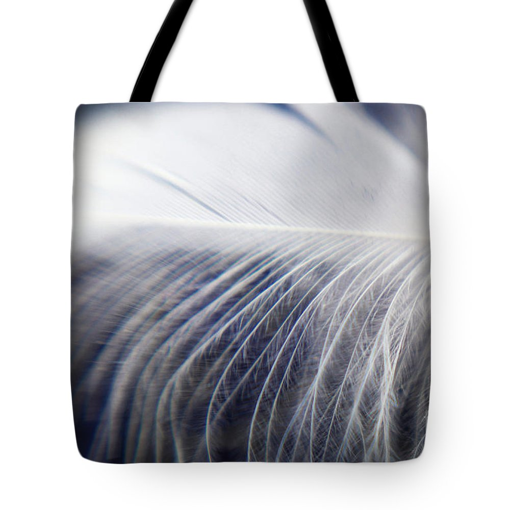 Feather Tote Bag featuring the photograph Swan Down by Helen White