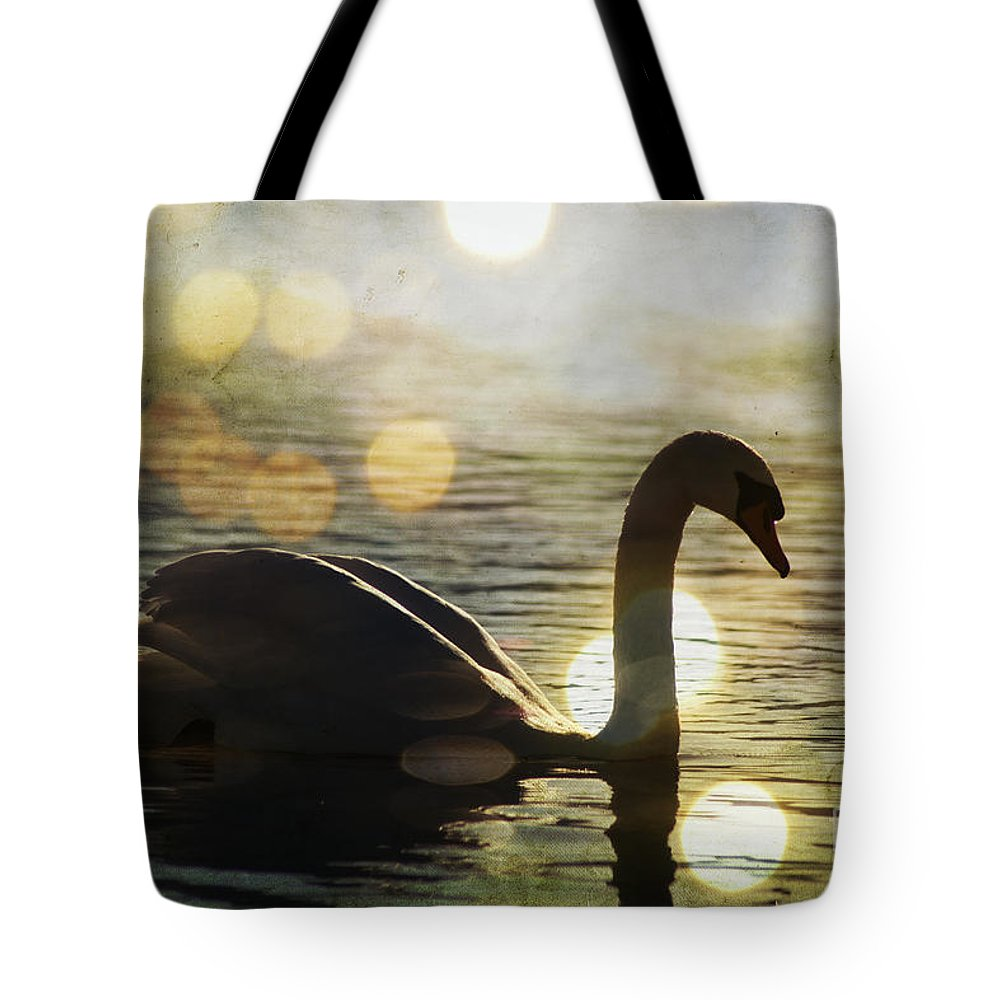 Swan Tote Bag featuring the photograph Swan by Joel Witmeyer