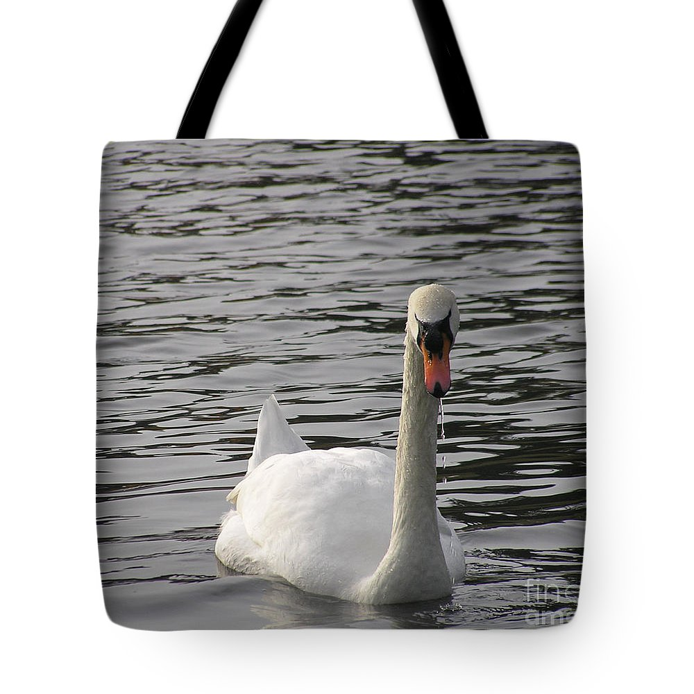 Swan Tote Bag featuring the photograph Swan by Louise Magno