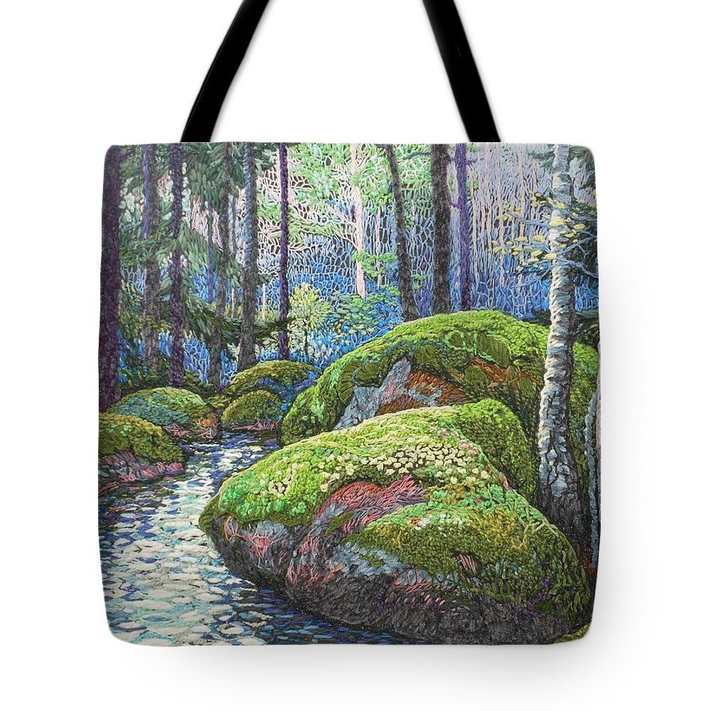Swedish Woods Tote Bag featuring the painting Swedish Woods by Kerstin Zettmar