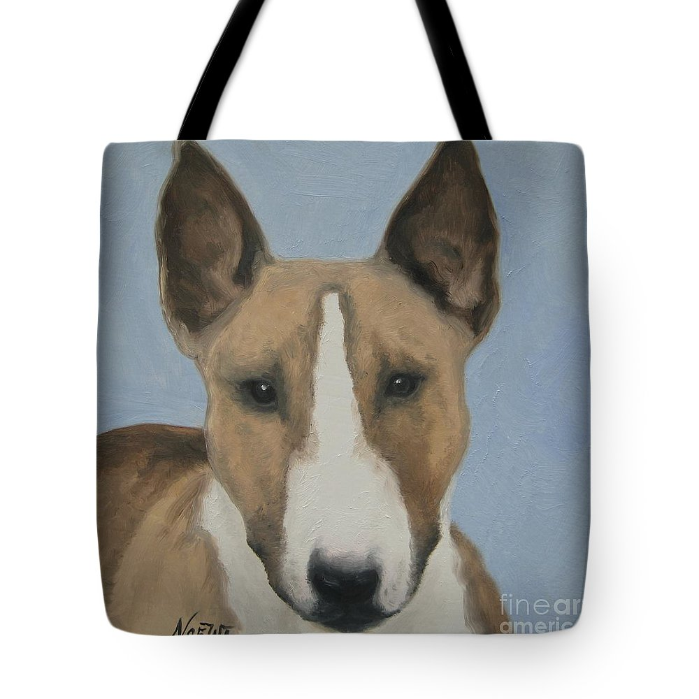 Noewi Tote Bag featuring the painting Sweet Bully Face by Jindra Noewi