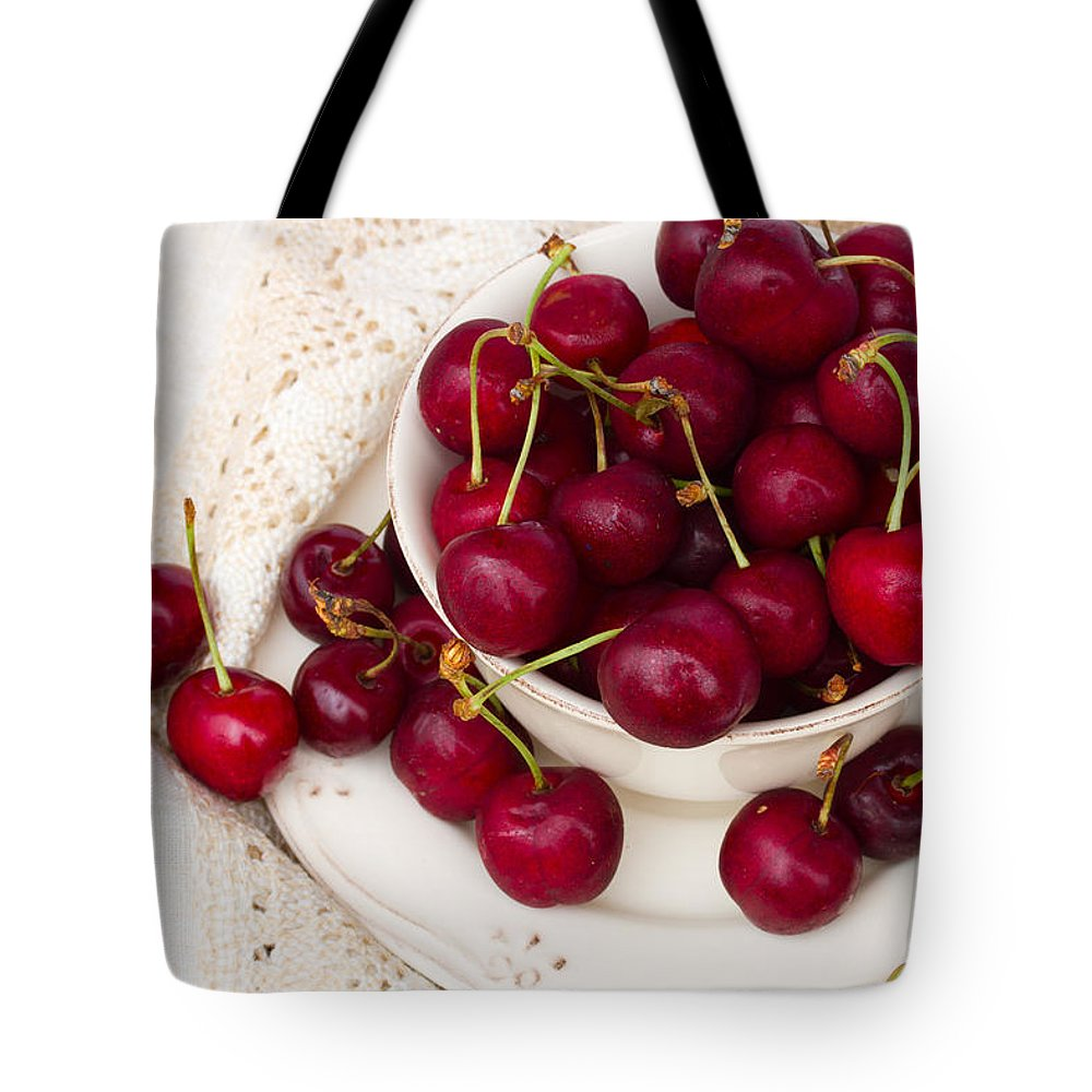 Sweet Tote Bag featuring the photograph Sweet Cherry by Anastasy Yarmolovich