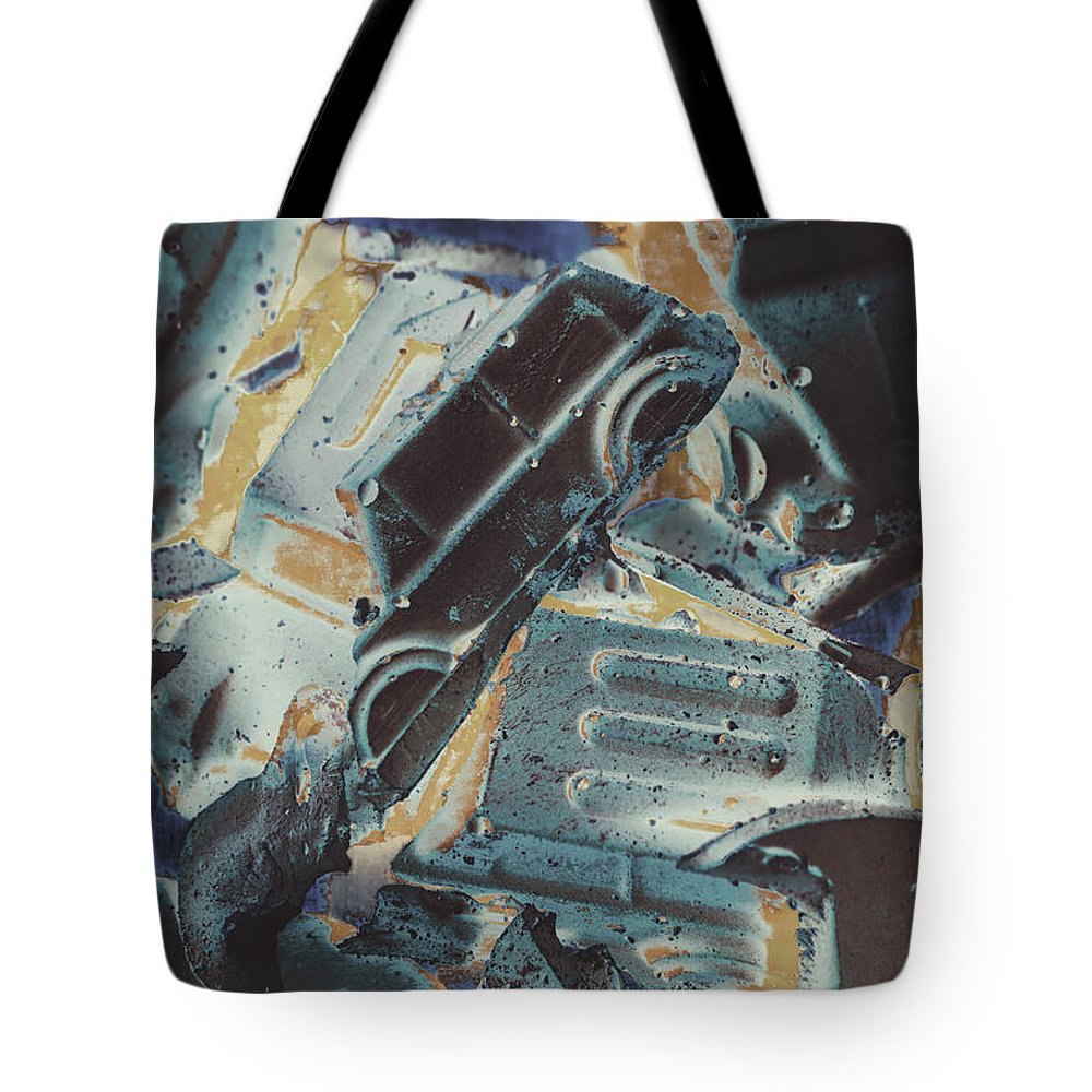 Abstract Tote Bag featuring the photograph Sweet Destruction by Jorgo Photography - Wall Art Gallery