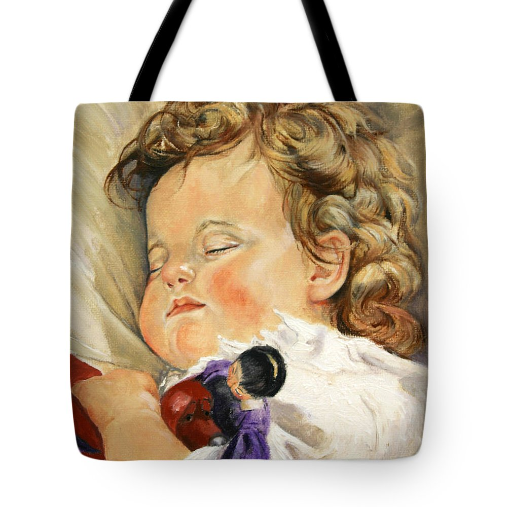 Children Portraits Tote Bag featuring the painting Sweet Dreams by Portraits By NC