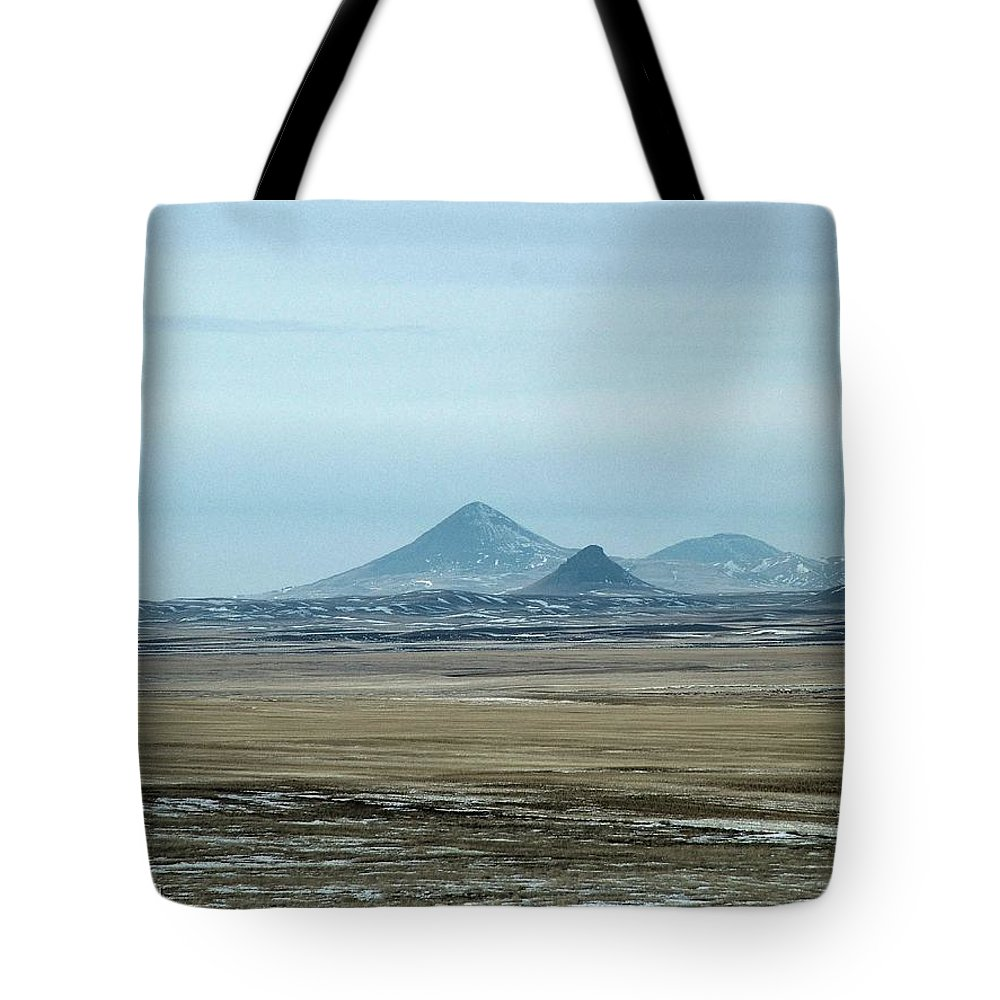 Sweet Grass Hills Tote Bag featuring the photograph Sweet Grass Hills Pyramids by Tracey Vivar