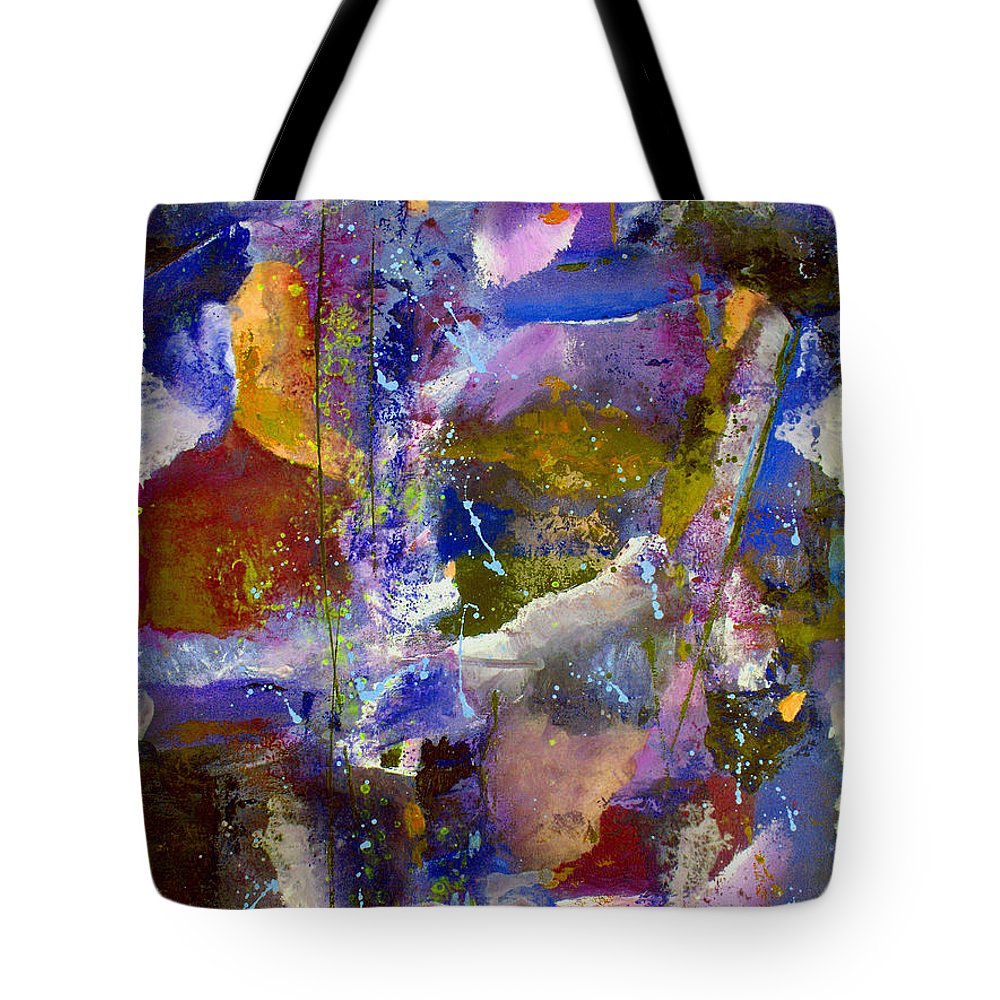 Abstract Tote Bag featuring the painting Sweet Inspiration by Ruth Palmer