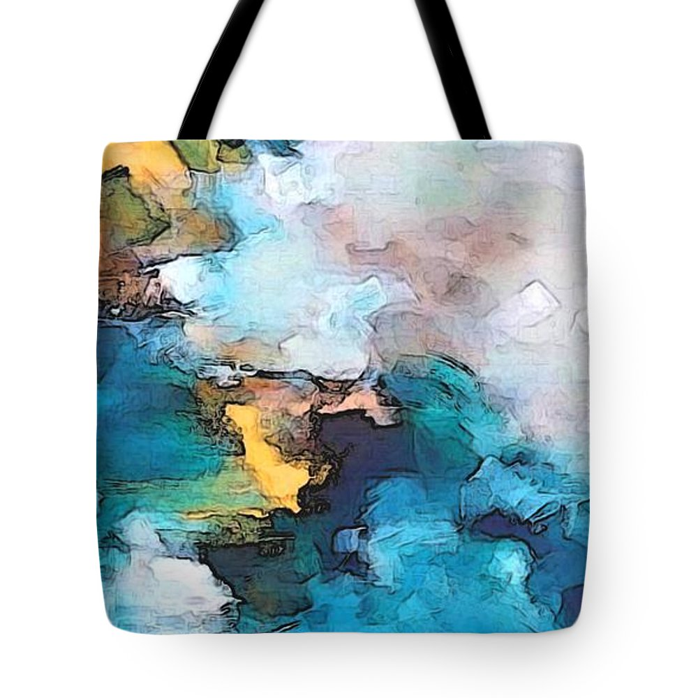 Abstract Tote Bag featuring the digital art Sweet Memory Shades by Linda Mears