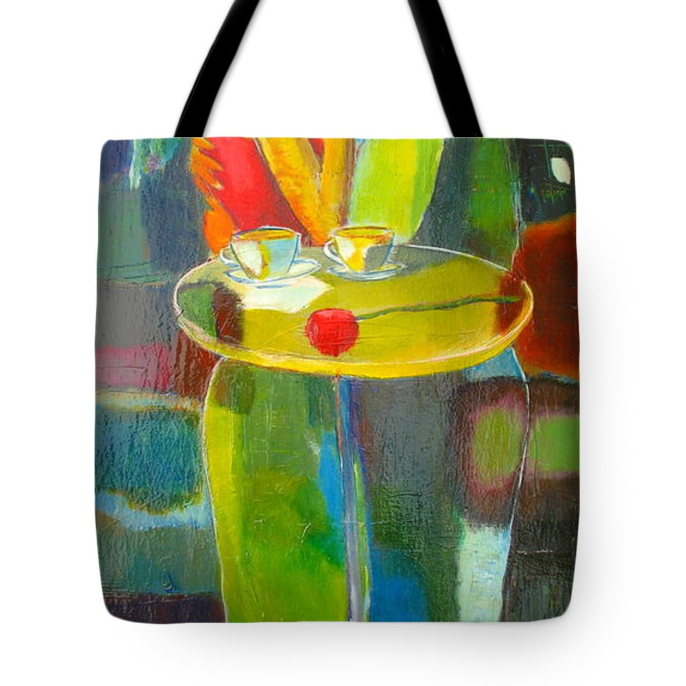 Love Tote Bag featuring the painting Sweet Moment by Habib Ayat