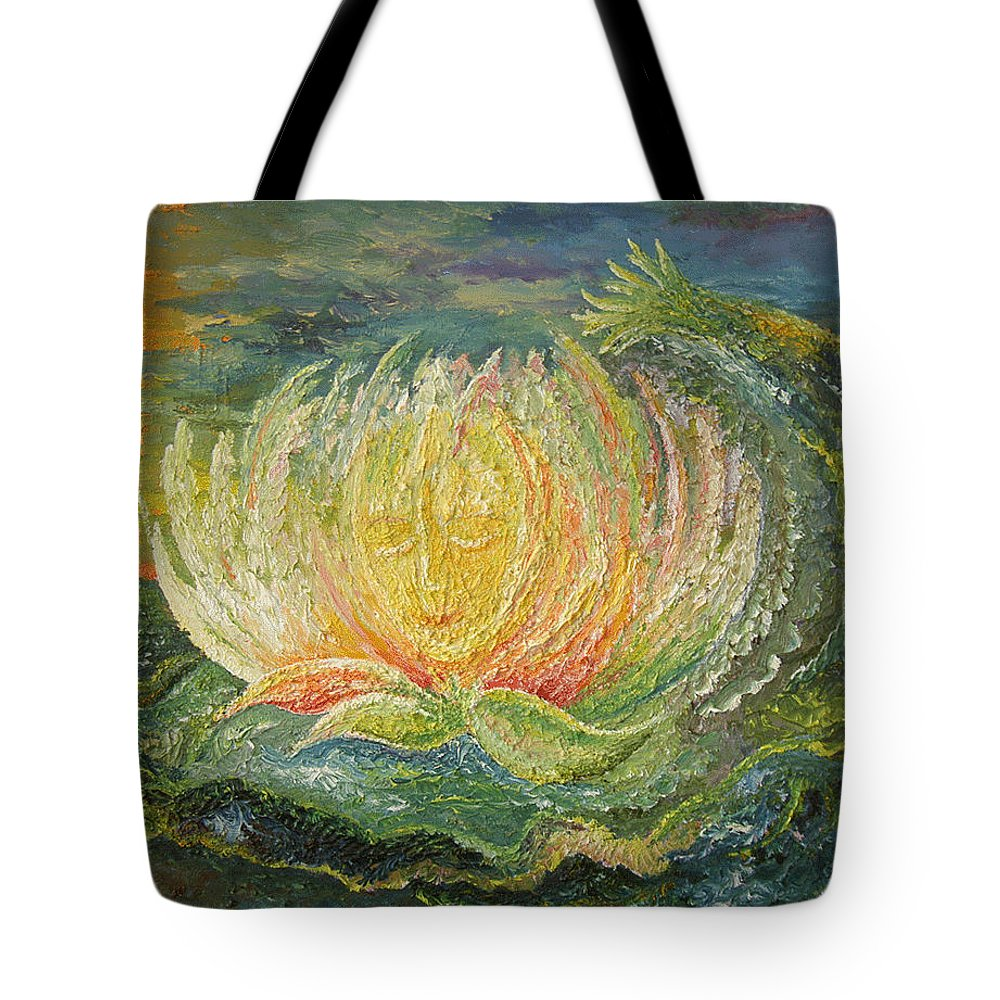 Flower Tote Bag featuring the painting Sweet Morning Dream by Karina Ishkhanova