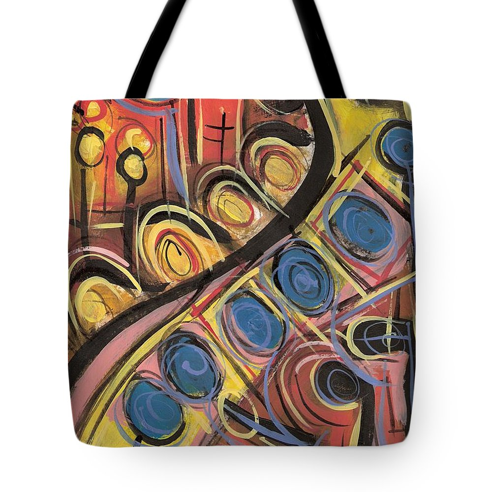 Abstract Painting Tote Bag featuring the painting Sweet Music by Americo Salazar