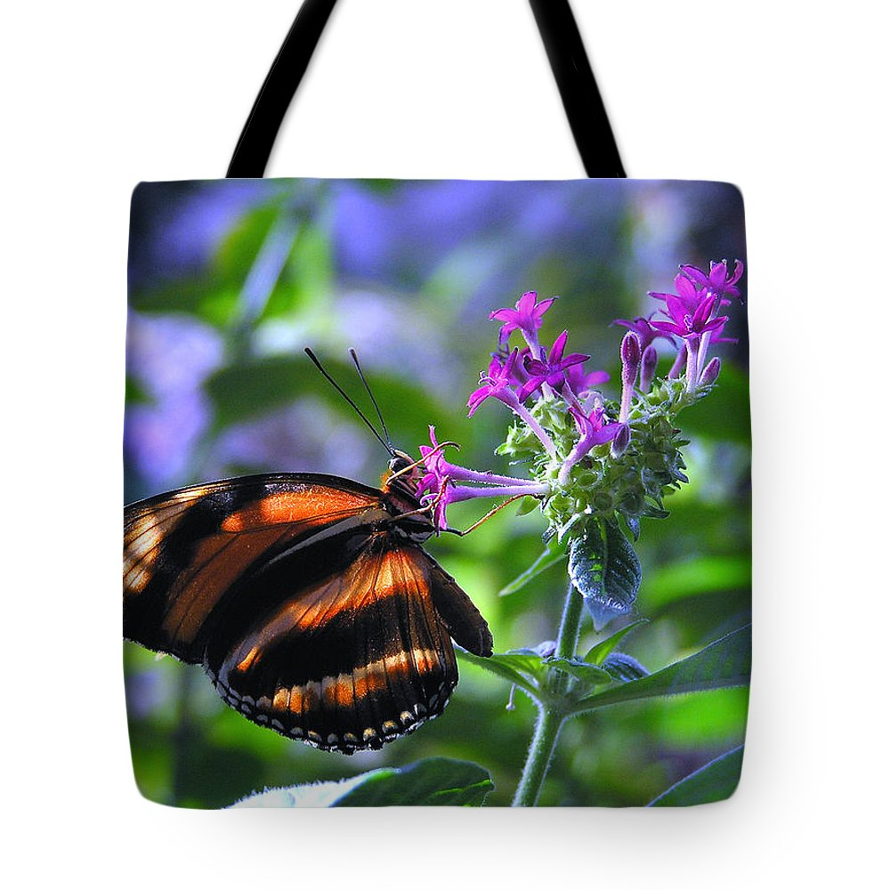 Butterfly Tote Bag featuring the photograph Sweet Nector by Louise Magno