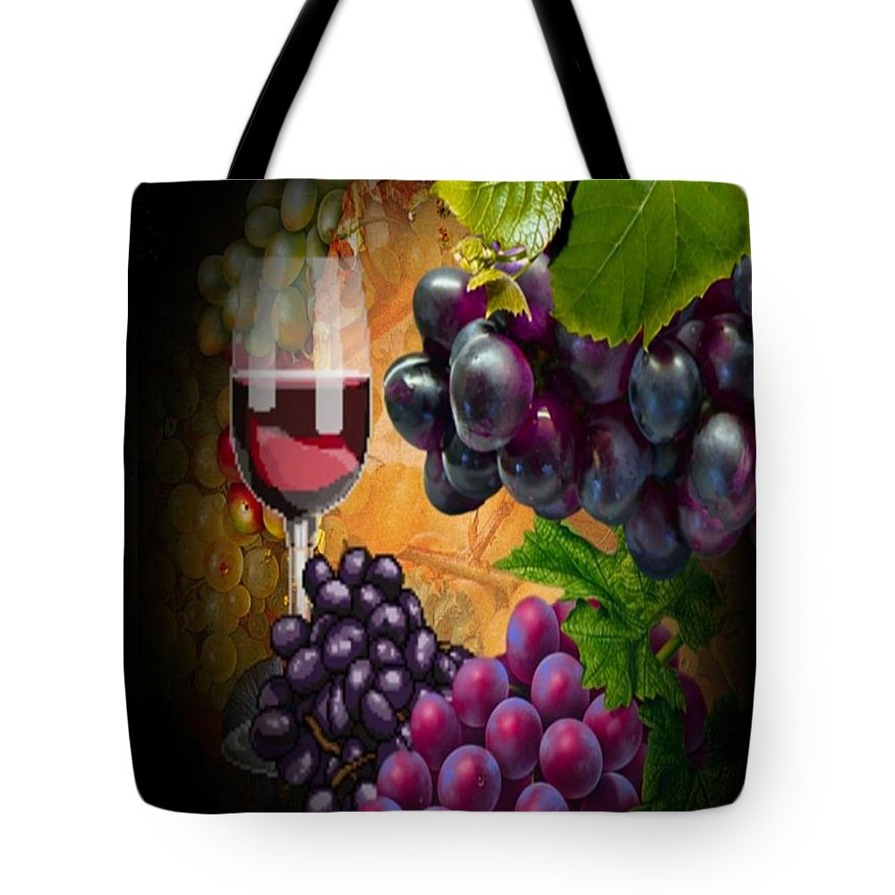 Wine Tote Bag featuring the photograph Sweet Red Wine # 3 by G Berry