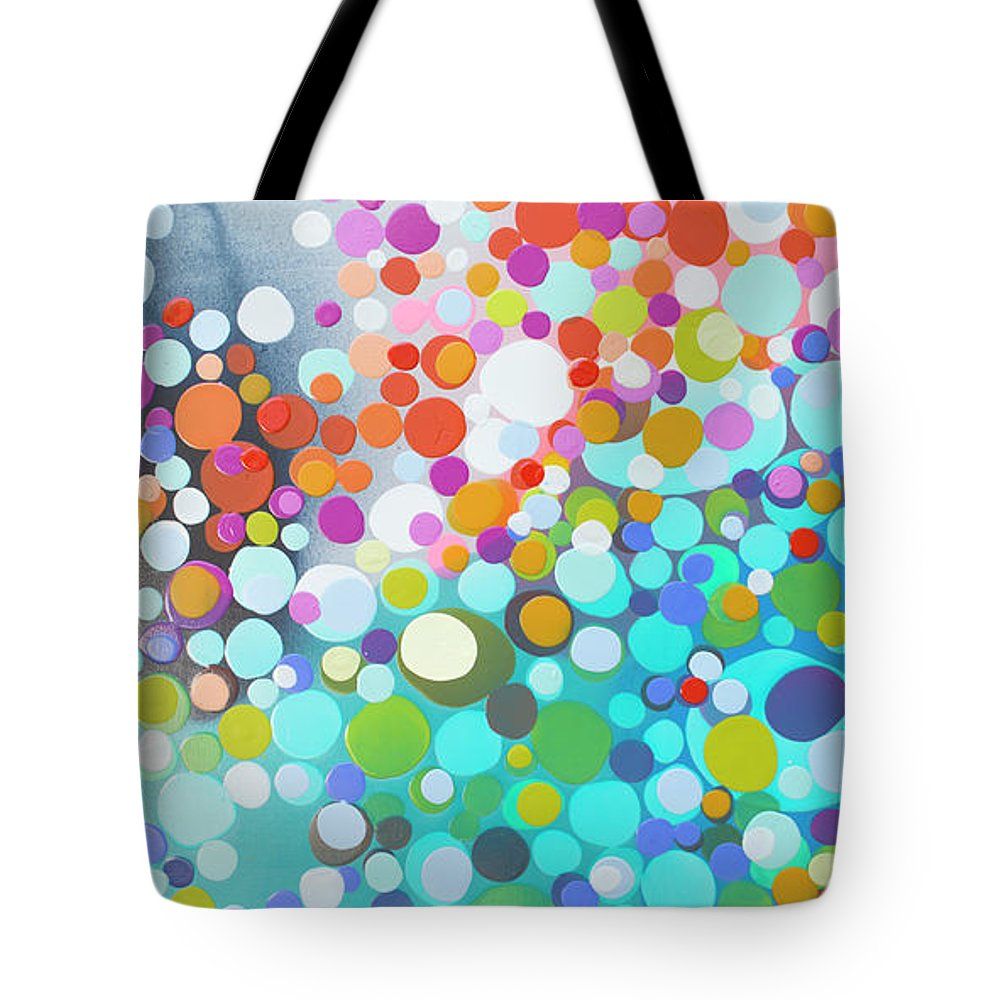Abstract Tote Bag featuring the painting Sweet Thing by Claire Desjardins