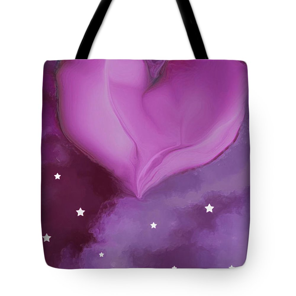Hearts Tote Bag featuring the digital art Sweetheart by Linda Sannuti