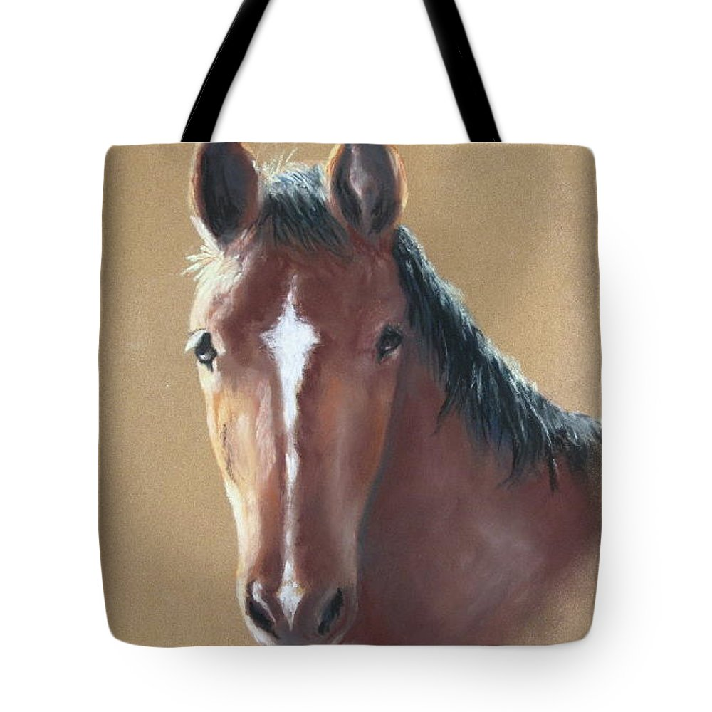 Horse Tote Bag featuring the painting Sweetie by Carol Mueller