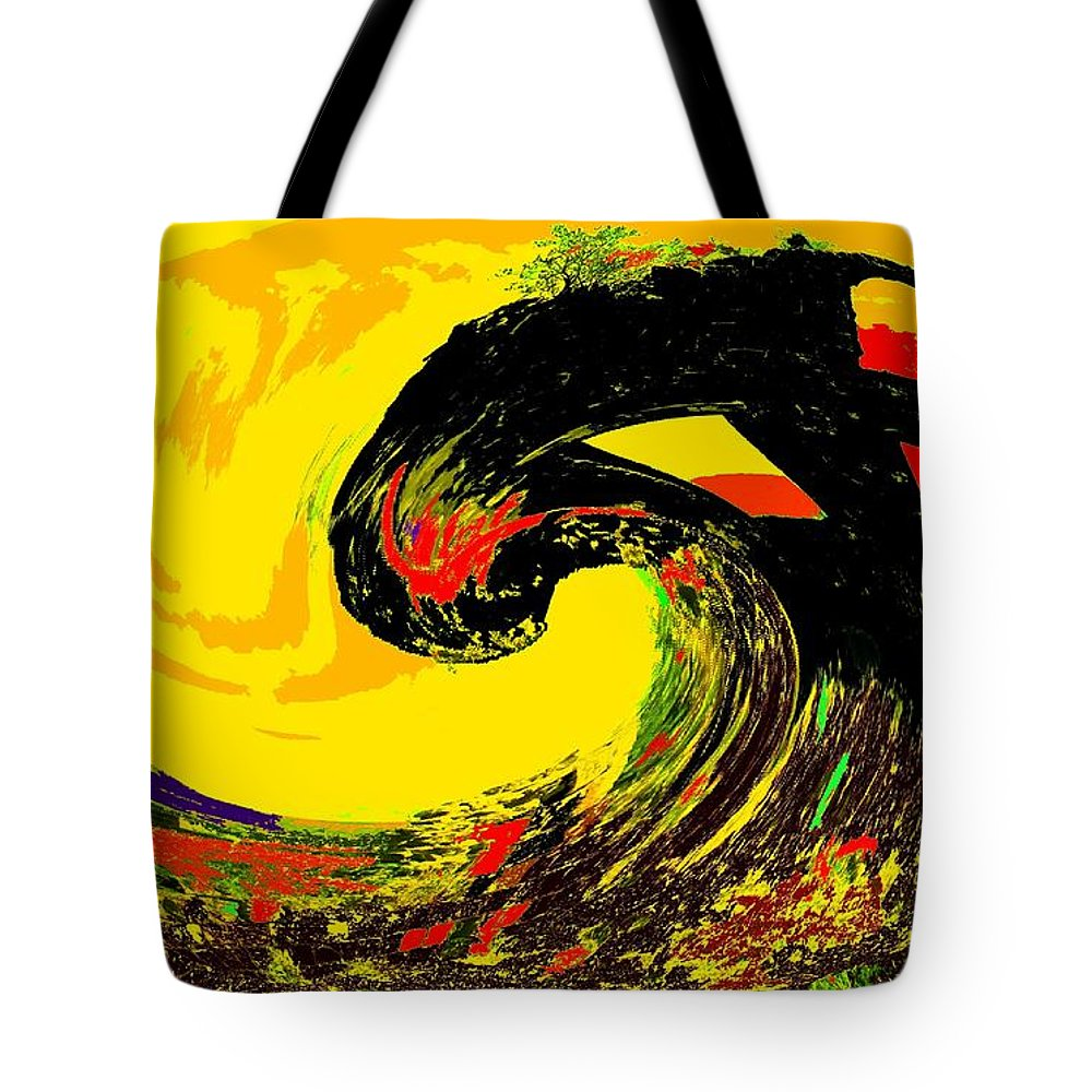Abstract Tote Bag featuring the photograph Swept Away by Ian MacDonald