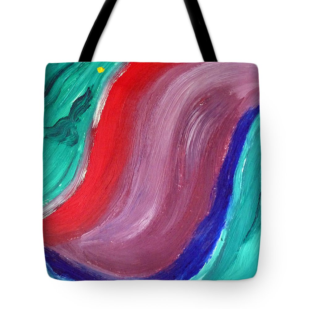Oil Painting Tote Bag featuring the painting Swerve by Francesca Mackenney