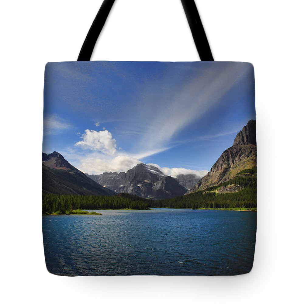 Mountains Tote Bag featuring the photograph Swiftcurrent Lake - Glacier Np by Shari Jardina