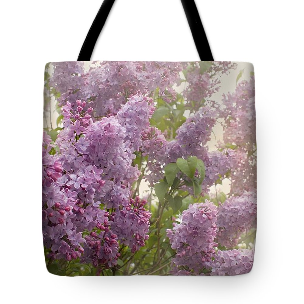 Lilacs Tote Bag featuring the photograph Swimming In A Sea Of Lilacs by Cindy Garber Iverson