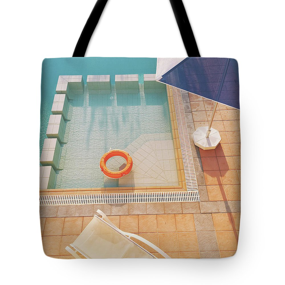 Water Tote Bag featuring the photograph Swimming Pool by Cassia Beck