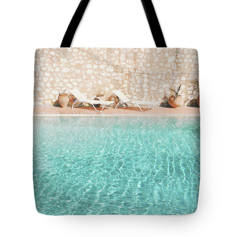 Water Tote Bag featuring the photograph Swimming Pool V by Cassia Beck