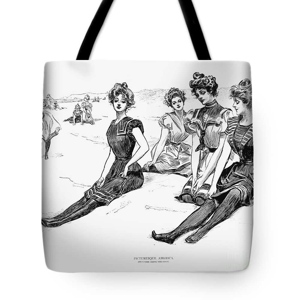 1900 Tote Bag featuring the photograph Swimsuits, 1900 by Granger