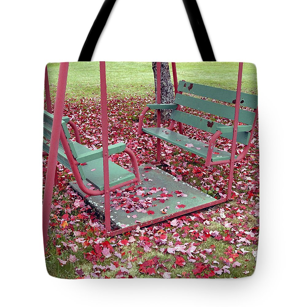 Swing Set Tote Bag featuring the photograph Swing Set by David Lee Thompson