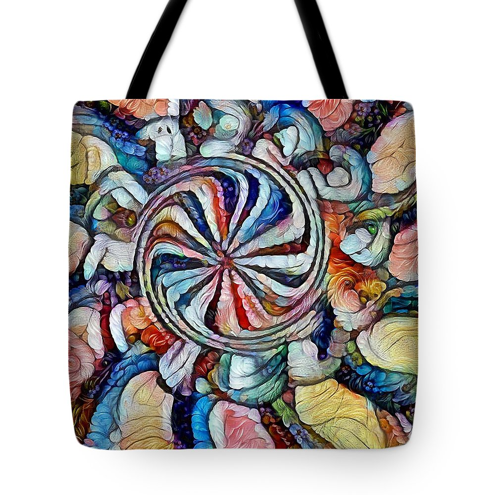 Swirls Tote Bag featuring the digital art Swirl 12 by Michael Taylor