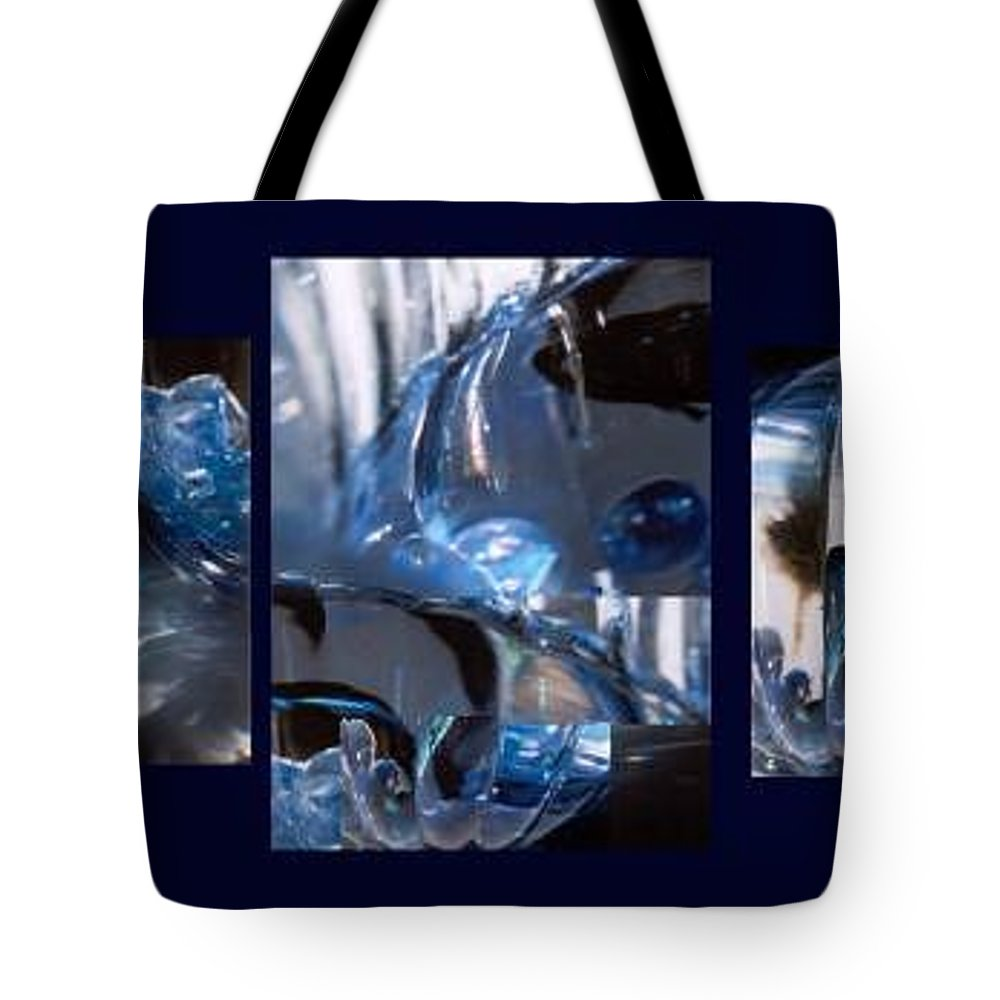 Abstract Of Betta In A Bowl Tote Bag featuring the photograph Swirl by Steve Karol