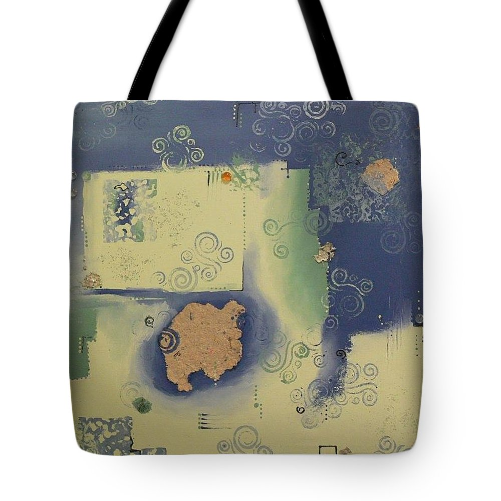 Abstract Tote Bag featuring the painting Swirled Planet by Serina Wells
