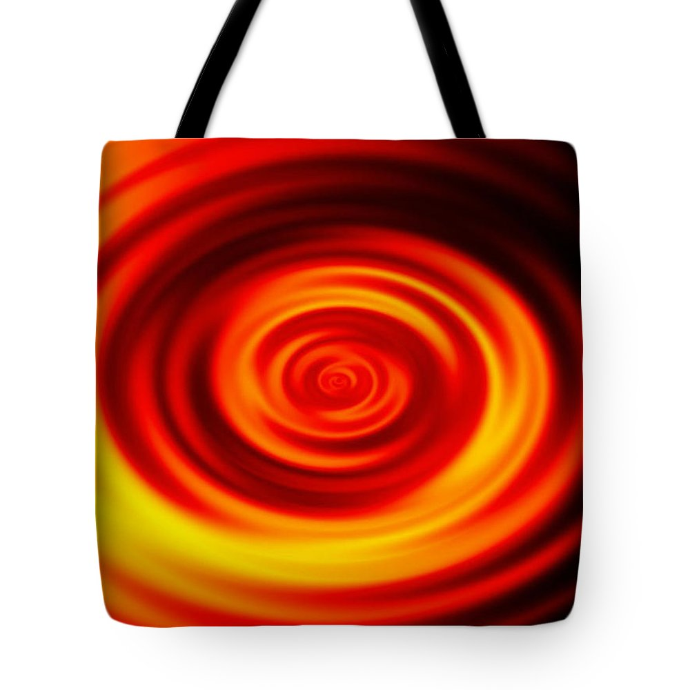 Swirled Tote Bag featuring the digital art Swirled Sunrise by Rhonda Barrett