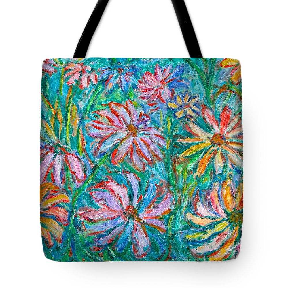 Impressionist Tote Bag featuring the painting Swirling Color by Kendall Kessler
