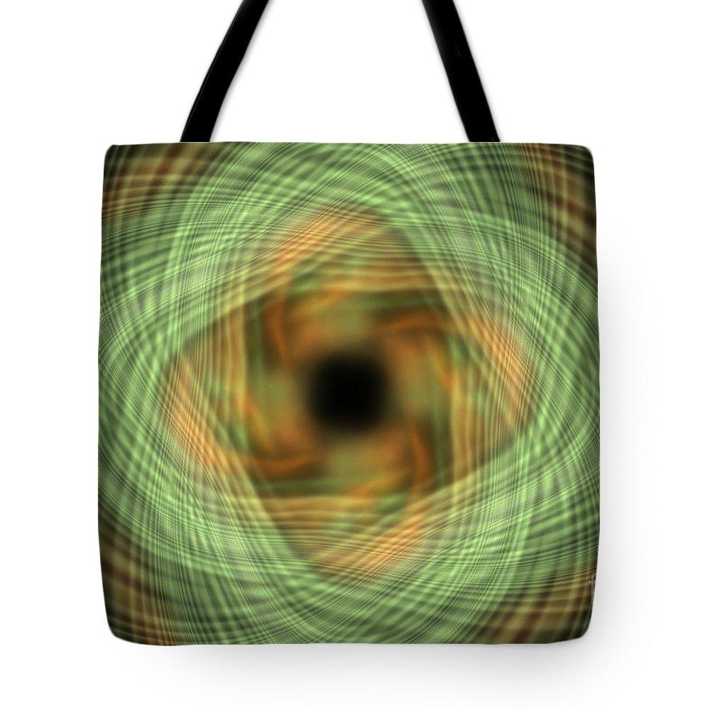 Digital Tote Bag featuring the digital art Swirly Plaid by Deborah Benoit