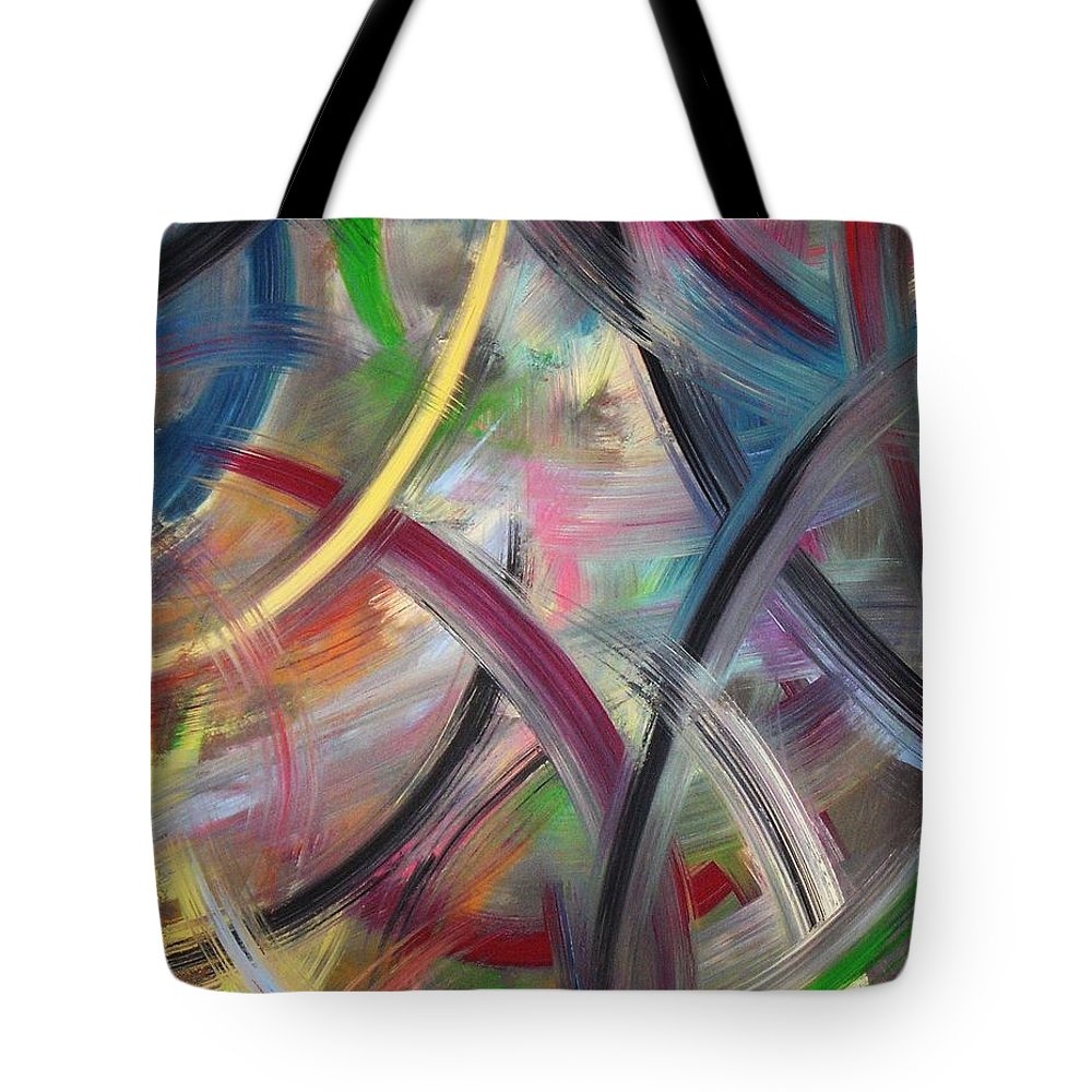 Acrylic Tote Bag featuring the painting Swish by Todd Hoover