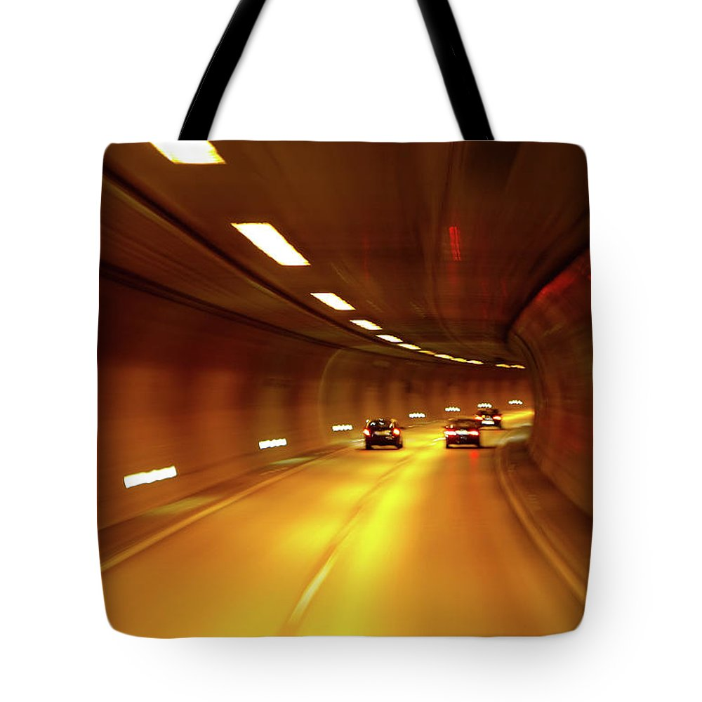 St Gallen Tote Bag featuring the photograph Swiss Alpine Tunnel by KG Thienemann