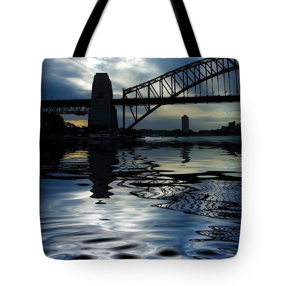 Sydney Harbour Australia Bridge Reflection Tote Bag featuring the photograph Sydney Harbour Bridge Reflection by Sheila Smart Fine Art Photography