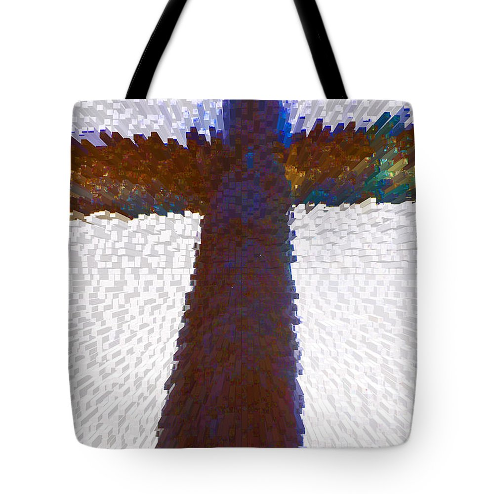 Abstract Tote Bag featuring the digital art Symbol by Lenore Senior