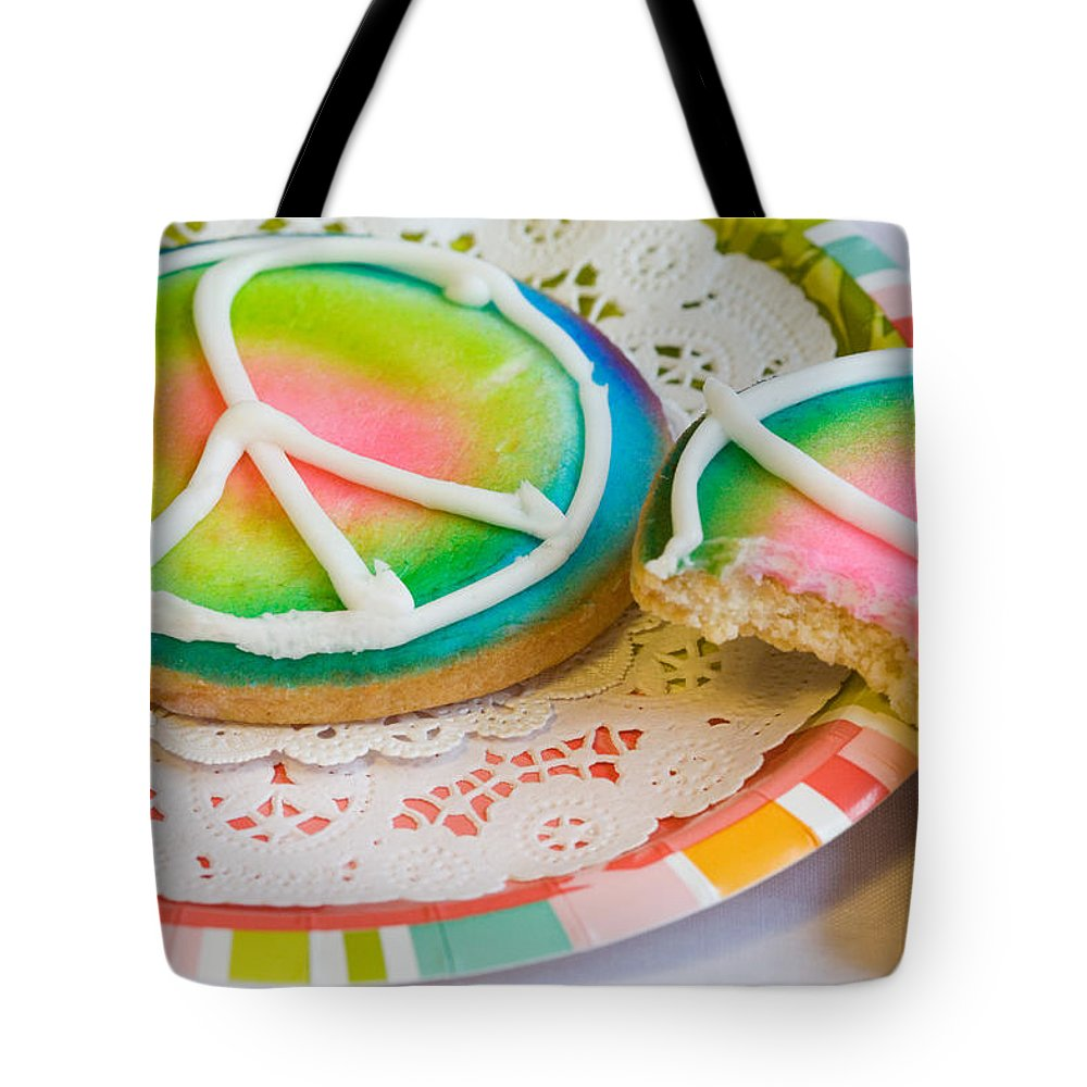 Cookie Tote Bag featuring the photograph Symbols Of Peace by Diane Macdonald
