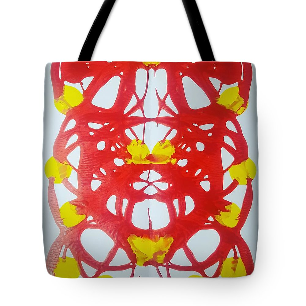 Tote Bag featuring the painting Symmetry 21 by Keri Fuller