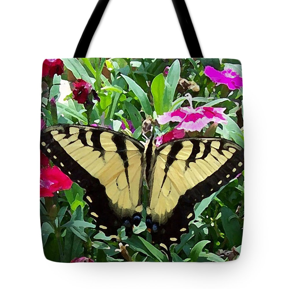 Swallowtail Tote Bag featuring the photograph Symmetry by Sandi OReilly