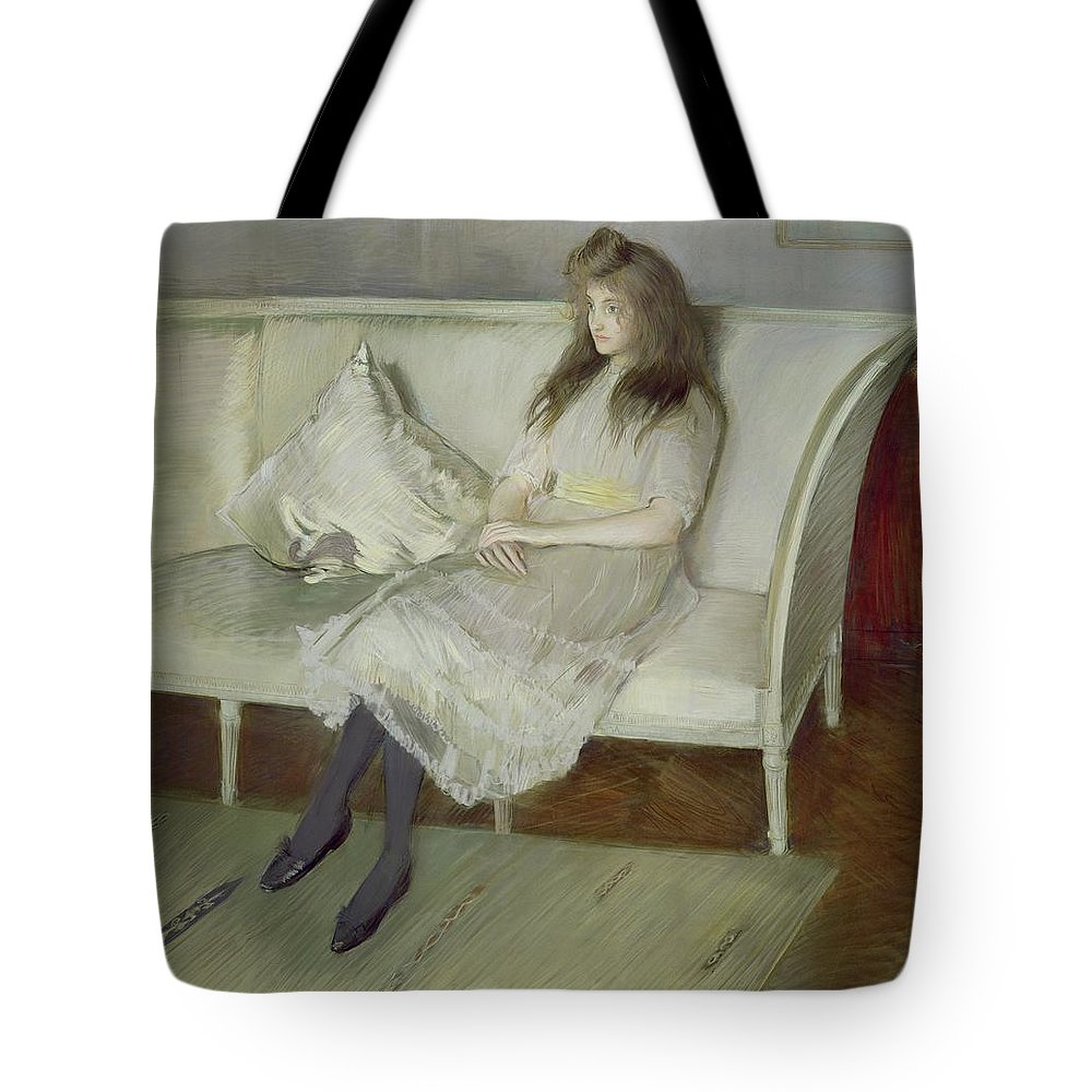 Symphony Tote Bag featuring the painting Symphony In White by Paul Cesar Helleu